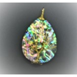 Abalone Teardrop Style With Tree Wire pendant - 2 inch Style 2
