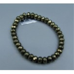 5x8 mm Faceted Gemstone Stretch Bracelet - Pyrite