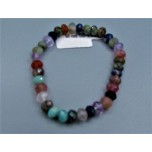 5x8 mm Faceted Gemstone Stretch Bracelet - Mixed Stone