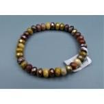 5x8 mm Faceted Gemstone Stretch Bracelet - AB Mookite