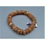 10 mm Faceted Gemstone Stretch Bracelet - Golden Sunstone