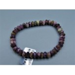 5x8 mm Faceted Gemstone Stretch Bracelet - Charoite