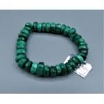 10 mm Gemstone Bracelet Faceted Bracelet - Malachite