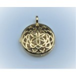 Designer Locket Cage - Gold plated blossom Cage