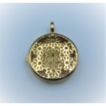 Designer Locket Cage - Gold plated flowers Cage