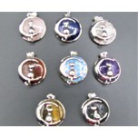 Cat on Moon Caged Gemstone Pendant - Assorted Stone Available