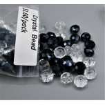 "Crystal Bead Pack - Clear / Navy Blue (3"" x 2.5"" Zip Bag)"