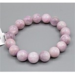 8-12 mm Gemstone Round Bead Bracelet - Kunzite