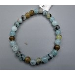 6 mm Gemstone Round Bead Bracelet - Agate Multi color