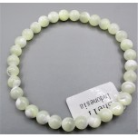 6 mm Gemstone Round Bead Bracelet - Shell