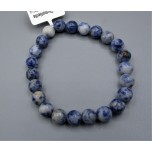 8 mm Gemstone Round Bead Bracelet - Dumortierite
