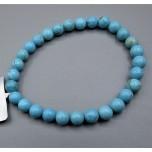 6 mm Gemstone Round Bead Bracelet - Howlite Turquoise