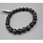 8 mm Gemstone Round Bead Bracelet - Amethyst