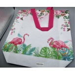 Gift Bag - Pink Flamingos printing - 30 x 26 x 8 cm (12 x 10.75 x 3.5 Inches) - 5 Pieces Pack