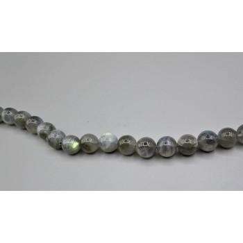 16 inch 10 mm Gemstone Round Bead Strand - Labordorite (Premium)