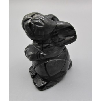 Rabbit (Hands Up) 2.25 Inch Figurine - Picasso Jasper