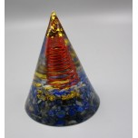 Prism with Gemstone - Lapis (2 inch OD x 2.5 inch H)