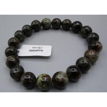 8-10 mm Gemstone Round Bead Bracelet - Amphibite