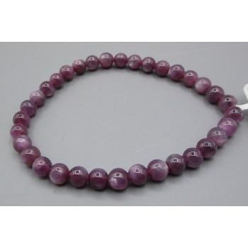 5 mm Gemstone Round Bead Bracelet - Ruby