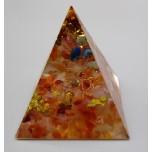 Pyramid with Gemstone - Cherry Quartz (2 x 2 x 2 inch)
