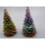 Tree  - Gold and multi color  (1.75 inch OD x 3.5 inch H)