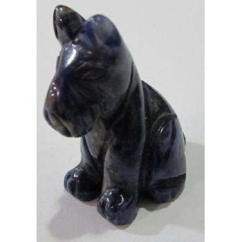 Dog (Schnauzer Sitting) 1.5 Inch Figurine - Sodalite