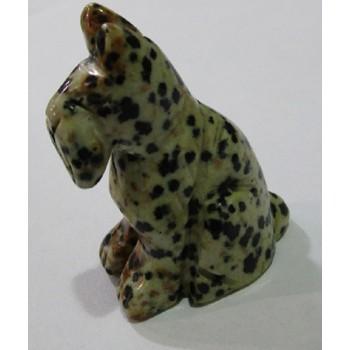 Dog (Schnauzer Sitting) 1.5 Inch Figurine - Dalmatian Dacite