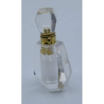 Perfume Bottle Pendant - AB Crystal Clear (about 1.25 Inch Tall)