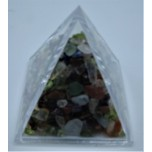 Pyramid Mineral Collection - Chips in (4 x 4 cm) Pyramid container - Mix Stone
