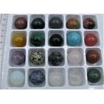 20mm Gemstone Sphere - 20 pcs Assorted Pack