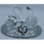 Swans - Crystal product (10.5 x 7 x 7 cm)