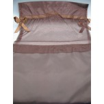Gift Bag - Brown Organza - 30 x 24 cm (11 x 9 Inches) - 10 Pieces Pack