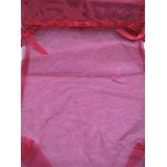 Gift Bag - Red Organza - 36 x 26 cm (14 x 10 Inches) - 10 Pieces Pack