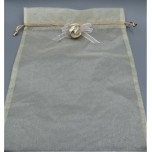 Gift Bag - Yellow Organza - 29 x 24 cm - 10 Pieces Pack