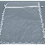 Gift Bag - White Organza - 21 x 21 cm ( 8 x 8 Inches) - 10 Pieces Pack