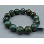 14 mm Gemstone Round Bead Bracelet - Chrysoccolla