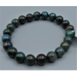 8 - 9 mm Gemstone Round Bead Bracelet - Chrysoccolla