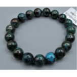 10 - 12 mm Gemstone Round Bead Bracelet - Chrysoccolla