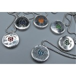 Cage Necklace with Sea Turtle - Stainless Steel/Base Medal - 32 inches - Assorted color