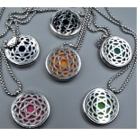 Cage Necklace with Star of David - Stainless Steel/Base Medal - 32 inches - Assorted color