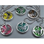 Cage Necklace with Owl - Stainless Steel/Base Medal - 32 inches - Assorted color
