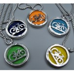 Cage Necklace with Bicycle - Stainless Steel/Base Medal - 32 inches - Assorted color