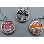 Cage Necklace with Queen Wasp - Stainless Steel/Base Medal - 32 inches - Assorted color