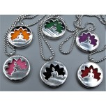 Cage Necklace with Kwin Yin - Stainless Steel/Base Medal - 32 inches - Assorted color