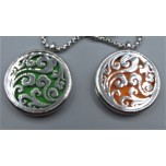 Cage Necklace with Cloud - Stainless Steel/Base Medal - 32 inches - Assorted color