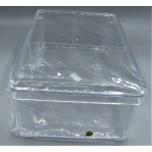Plastic 2-place Divided Jewelry/Bead Box (22 x 14 x 8 cm)