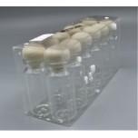 Plastic Round Tube Chips/Jewelry/Bead Box (2 cm x 6 cm) - 12 pcs Pack