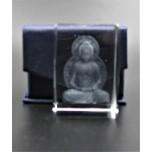 Crystal imitation Quartz Rectangle w Buddha (3 x 3 x 4 cm)