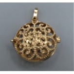 Designer Locket Cage - Gold plated flowers with Rhinestone Cage (30 mm)