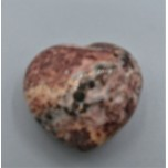 Small Gemstone Heart - Leopard Skin Jasper